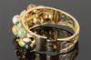 Very Collectible Multi Colored Jade Bangle Bracelet