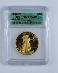 PERFECT 1986-W $50.00 American Gold Eagle