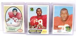 3 Bobby Bell, Chiefs Football Cards