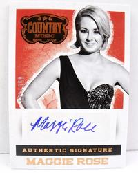 Maggie Rose Authentic Autograph Card