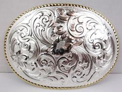 Huge 5.5 Inch Montana Silversmiths Belt Buckle