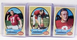 3 St. Louis Cardinals 1970 Topps Football Cards