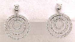 Fancy Diamond Dangle Earrings, 18KT