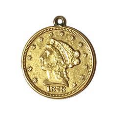 1878 US Quarter Eagle Love token