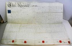 1812 Large Antique Land Indenture