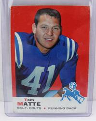 Tom Matte, Colts Football Card