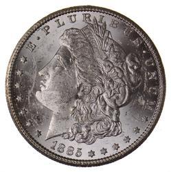 GEM BU 1885-CC Morgan Silver Dollar