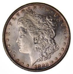 1882-CC Morgan Silver Dollar, AU/UNC