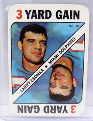 Larry Csonka, Dolphins Topps Game Card