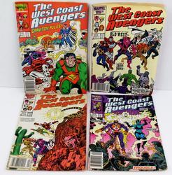 4 West Coast Avengers Comic Books, 1986