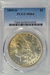 Great near Gem BU 1899-O Morgan Silver Dollar PCGS MS64