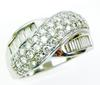 High Quality Sterling & CZ Wide Ring