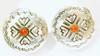 Vintage LS Navajo Sterling & Coral Vintage Earrings