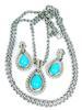 Vintage Avon Faux Turquoise Necklace & Earrings
