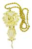 Signed Vintage 5.5 Inch Lion Pendant & Chain