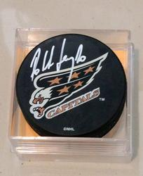 Bill Ranford Signed Capitals Hockey Puck