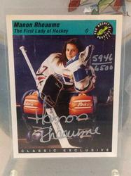 Manon Rheaume Signed Card