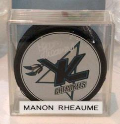 Manon Rheaume Signed Hockey Puck