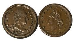2 Nice 1863 Civil War Tokens