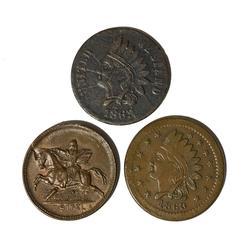 3 x 1863 Civil War Tokens