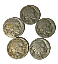 1918 S 1919 S 1920 S 1923 S and 1925 S Buffalo Nickels