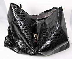 Gucci Black Snakeskin Hobo Bag
