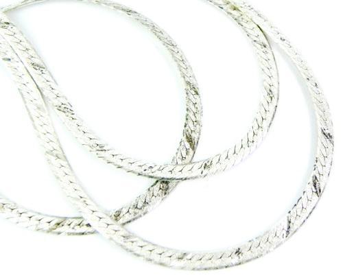 Italian 30 Inch Diamond Cut Sterling Herringbone Chain