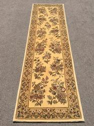 Lovely Hand Woven High Quality Kashan Runner, Part Silk