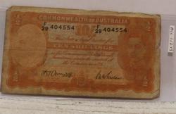 Australia 10 Shillings Note, color, undated, circulated