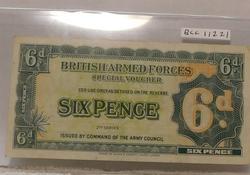 British Military Six Pence, Military Certificate, Uncir
