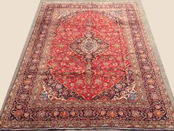 Lustrous Handmade Fine Vintage Persian Bidgol-Kashan Rug