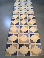 Contemporary Design Hand Made , Wool Area  8FT Runner