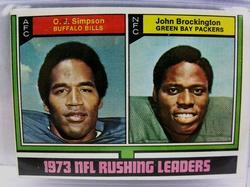 Topps 1973 NFL Rushing Leaders Football Card
