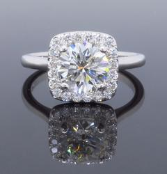 GIA Certified 1.27CTW Engagement Ring