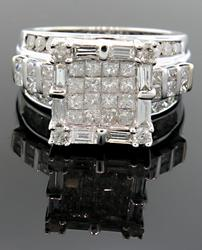 Large Cluster Diamond Ring at 3.0 CTW
