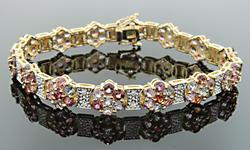 Multi Color Gemstone & Diamond Bracelet