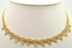 LADIES 18 KT YELLOW GOLD NECKLACE