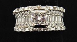 Stunning 2+ctw Multi-Cut Diamond Ring in 14kt Gold