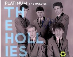 The Hollies Autographed Signed x3 11x14 Promo Photo AFT