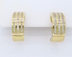 14K Yellow Gold .72CTW Diamond Earrings