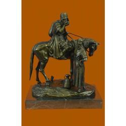 Man on Horseback Bronze Sculpture Hot Cast Lost Wax Statue