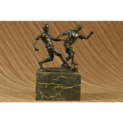 Two Soccer Player FIFA Bronze Sculpture