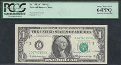 $1 1969 FRN Autograph David Kennedy Sec Treasury