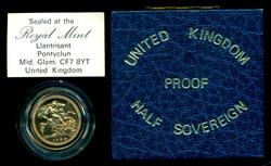 Fabulous Gem PRF 1984 Great Britain Gold Half Sovereign