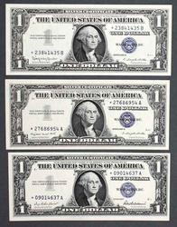 9 Star CH CU 1957 Series Silver Certificates