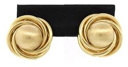 14KT GOLD KNOT AND DOME EARRINGS