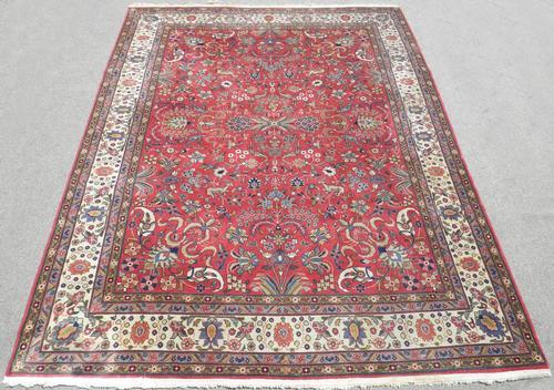 Handmade Allover Design Semi Antique Persian Tabriz 8x11
