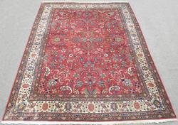 Handmade Allover Design Semi Antique Persian Tabriz 8.3x11.1