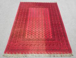 Finely Knotted Delicate Wool on Wool Semi Antique Persian Turkmen