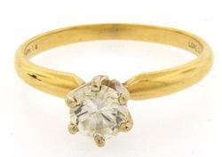 Elegant Diamond Solitaire Engagement Ring